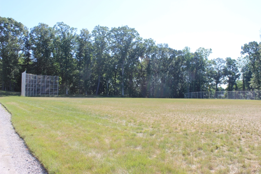 Large fenced field